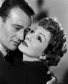 """John Wayne and Claudette Colbert for """"Without Reservations"""" (1946)."""