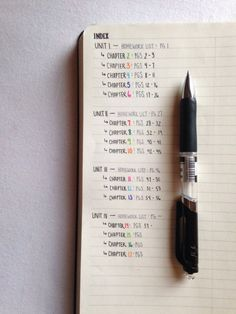 Indexing your notebook for class....just like a bullet journal: