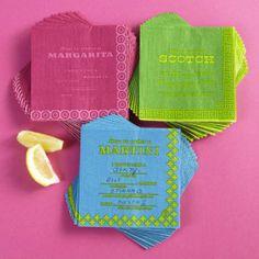 Jonathan Adler cocktail napkins