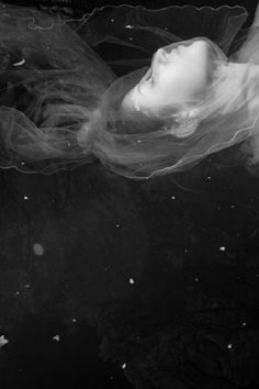 """""""Kat Moser explores the potency of the female form and the otherworldly aspects of earth and water through her elegant, ethereal and often enigmatic photographs. By envisioning age-old cultural narratives we first experienced in fairy tales, mytholog Silhouette, Magazine Art, Black And White Photography, Ethereal, Paranormal, Illusions, In This Moment, Fine Art, Inspiration"""