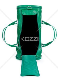 open green sports bag - An opened green sports bag on a white background