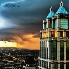 Storm rolling into Chicago by John Harrison