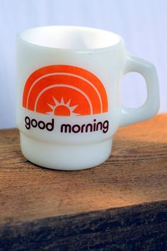Fire King Mug  1970s  Burger Queen by Highway80 on Etsy
