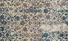 Show details for Modern Greys Collection: Damask Teal 5x8 Rug