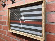 EMT Paramedic EMS EMT flag Paramedic Flag Thin Line Flag