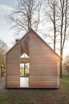 Dutch architecture firm Zecc Architecten teamed up with interior designer Roel van Norel to create an idyllic cottage in the countryside near Utrecht. With its gabled slate roof and four continuous walls, the quintessential cottage could leap from. Cabins In The Woods, House In The Woods, Utrecht, Residential Architecture, Interior Architecture, Chinese Architecture, Futuristic Architecture, Tiny House, House Styles