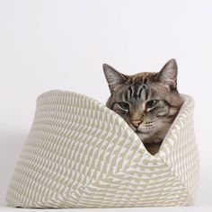 This jumbo size Cat Canoe® was made in cotton fabrics in neutral colors, and is a good solution if you have an enormous cat and want a very subdued look. Our jumbo size Cat Canoe® was made to accomoda