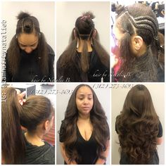 When your sew-in is undetectable, and looks like your own real hair!🙌🏽 ***Call or text Natalie B. at to schedule your appointment for one of my signature VERSATILE SEW-IN HAIR WEAVES! Black Hairstyles Crochet, Sew In Weave Hairstyles, Sleek Hairstyles, Black Girls Hairstyles, Braided Hairstyles, Hairstyles Pictures, Afro, Sew In Braids, Curly Hair Styles