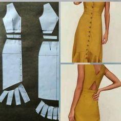 Fantastic Pic hand sewing dress Popular 54 Ideas Sewing Dress Patterns Dressmaking For 2019 Sewing Dress, Diy Dress, Sewing Clothes, Diy Maxi Skirt, Dress Outfits, Dress Making Patterns, Skirt Patterns Sewing, Clothing Patterns, Simple Sewing Patterns