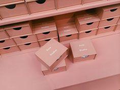 A Visual Alphabet of Acne Studios Fashion Packaging, Brand Packaging, Fashion Branding, Box Packaging, Packaging Design, Branding Design, Beauty Packaging, Boutique Interior, Beauty Box