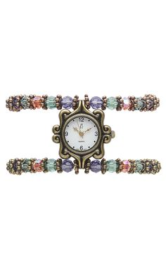 Jewelry Design - Watch with Swarovski Crystal Beads and Metal Beads - Fire Mountain Gems and Beads