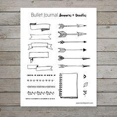 Bullet Journal Doodle Banner Printable