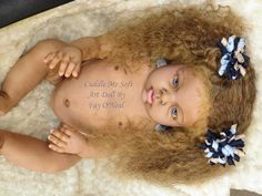 Adopted / Sold - Biracial Reborn Toddler Girl by Fay O'Neal - www.cuddlemesoft.com