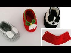crochet slipper very easy(English subtitles) Crochet Baby Shoes, Crochet Slippers, Baby Shoes Pattern, Baby Must Haves, Doll Shoes, Knitted Dolls, Crochet Stitches, Knitting, Kids