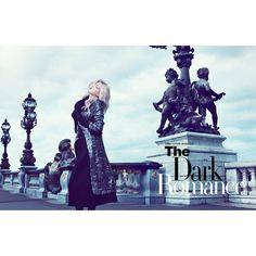 Iris Egbers is Darkly Romantic for Harper's Bazaar Hong Kong September... ❤ liked on Polyvore