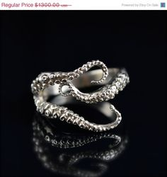 Wicked Tentacle Ring by OctopusMe on Etsy