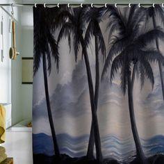 Rosie Brown 'Sunset Palms' Shower Curtain