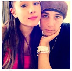 Ariana Grande and Jai Brooks There youtube video, boyfriend does my makeup is the cutest<3