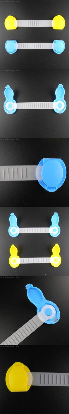 2pcs New Baby Child Kids Safety Bendy Plastic Cabinet Drawer Refrigerator Door Lock Multifunctional Security Protection Products