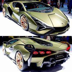New Lambo Sian only six will be made Lamborghini Cars, Bugatti, Ferrari, Bmw Sport, Sport Cars, New Lambo, Supercars, Automobile, Car Paint Jobs