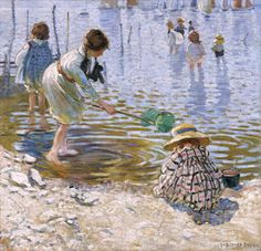 At the Seaside- Dorothea Sharp  loved the textures in this (Cardiff Museum)