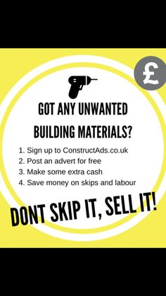 Cheap surplus building materials? Sell them today at www.constructads.co.uk