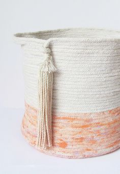 Handmade Coiled Rope Storage Bins | TwigandTassel on Etsy