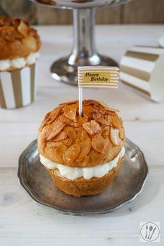Bienenstich Cupcakes- kleine Bienenstich Kuchen
