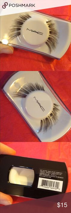 MAC cosmetics false eyelashes NEW Brand new never used MAC cosmetics false eyelashes. I believe these are limited edition. Very pretty creates a wispy lash effect. Message me if you have any questions and check out my other items! MAC Cosmetics Makeup False Eyelashes