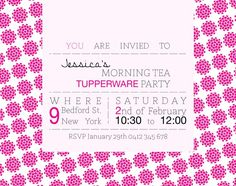 10 Best Invitations Images Tub Tupperware Party Ideas