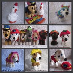 Paw Patrol Characters - This is a collection of 8 Paw Patrol crochet patterns which include Everest, Marshall, Rubble, Zuma, Rocky, Chase, Skye, and Chickaletta. Each puppy measures approx. 7 inches long and 5 1/2 inches tall. Also included is a 19 page pdf photo tutorial of how to sew the puppies together.