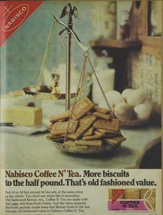 Nabisco Coffee & Tea Biscuits Magazine Advertisement Ad February 1970 Vintage Retro