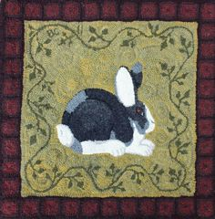 Traditional hooked rug pattern Pete by SerendipityRugs on Etsy, $55.00