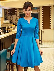 TS Mid Sleeve Swing Jersey Dress (More Colors... – USD $ 25.99