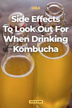 Side Effects To Look Out For When Drinking Kombucha Kombucha Drink, Kombucha Cocktail, Kombucha Flavors, Kombucha Scoby, Probiotic Drinks, Ginger Kombucha Recipe, Benefits Of Kombucha, Health Benefits, Health Foods