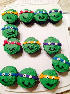 Ninja turtle cupcakes. Quick and easy