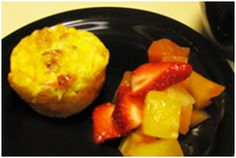 Biscuit Egg Muffins  1.  Frozen biscuits (no preservatives) 2.  Sausage (1/2 lb lean)  3.  Eggs (6) 4.  Shredded Cheese (1/2 cup) *Bake at 400' for 12 minutes