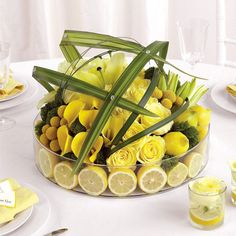 is that a 12 lemon center piece? What baby wants baby gets!