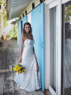 Noiva linda Tati Welker ✨ Wedding Dress #AtelierCarlaGaspar