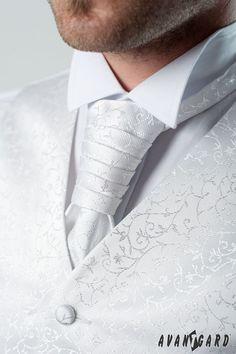 Pánská fraková košile se svatební vestou, regatou a kapesníčkem. Vše značka AVANTGARD.   ///   Men's shirt cufflinks, wedding vest and tie and handkerchief. Brand AVANTGARD. Tie Clip, Tie Pin