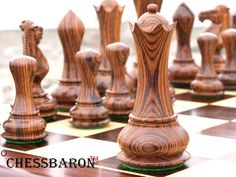 Contemporary Staunton , Rosewood Triple Weight, Felted, Double Queens Chess Pieces
