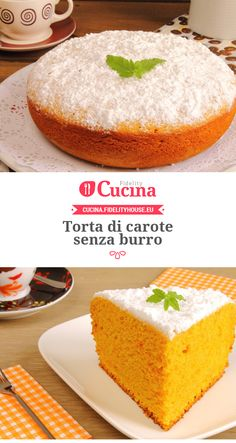 #Torta di #carote senza burro Sweet Recipes, Cake Recipes, Dessert Recipes, Desserts, Tortilla Sana, Sweet Light, Tortillas Veganas, Torte Cake, Healthy Groceries