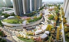 Huainan City Park in Anhui by Jerde   Malls and department stores