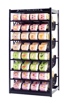 Food Rotation System Canned Soup Can Storage Rack