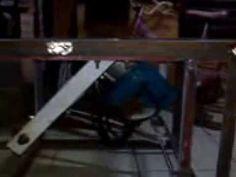 DIY / homemade table saw lift & turning