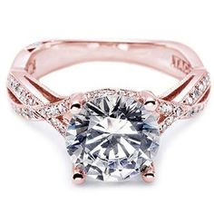 love rose gold engagement rings - I'm definitely drooling over this one!