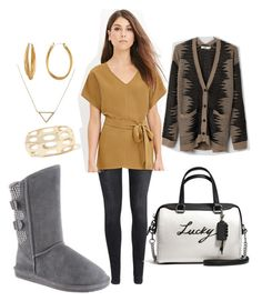 """Boshie Will Bring You Luck"" by bearpawstyle on Polyvore featuring H&M, Love 21, Lira, Coach, Diane Von Furstenberg and Banana Republic"