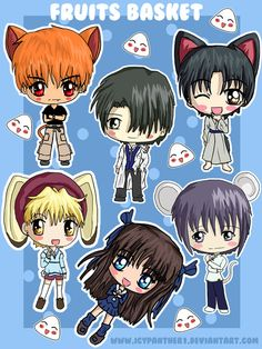 Fruits Basket Chibi Sticker Sheets