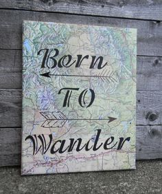 Travel Quote Wall Decor//Inspirational Map Art//Inspirational Travel Art//Birthday Gift//Home Decor//Gift for Him//Travel Decor by ReiBugStyles on Etsy