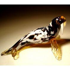 Glass Walrus $24.95 http://www.glasslilies.com/33-glass-walrus.html #Glass #Walrus #Fish #Gifts #GlassArt #BlownGlass #Figurine